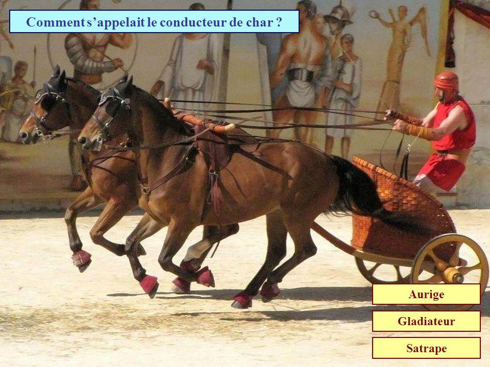 Comment sappelait un char tiré par quatre chevaux ? Quadrette Quadrige Quadrille