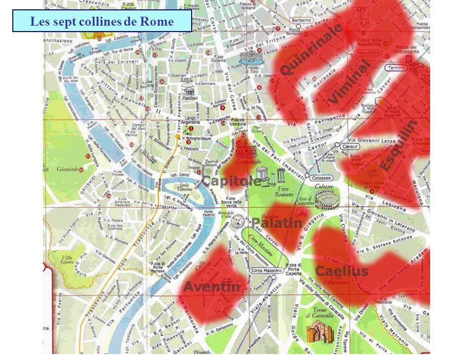 Rome est appelée la ville aux… ? Sept cathédrales Sept collines Sept fleuves