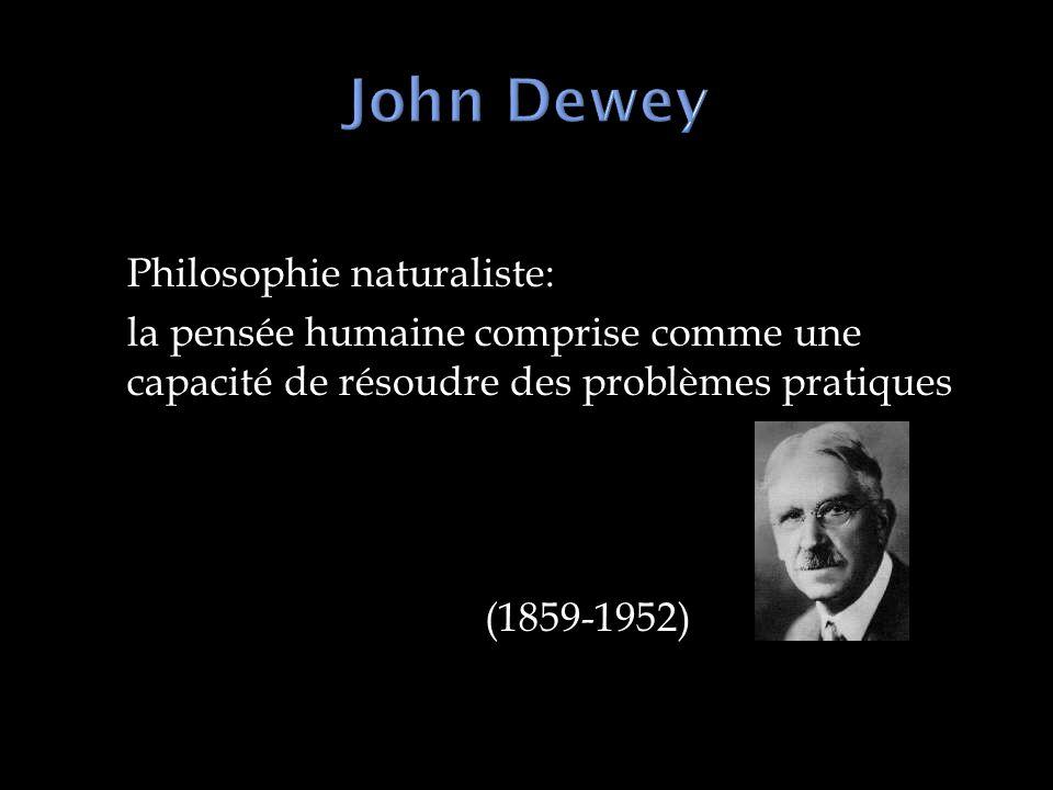 Philosophie naturaliste: la pensée humaine comprise comme une capacité de résoudre des problèmes pratiques (1859-1952)