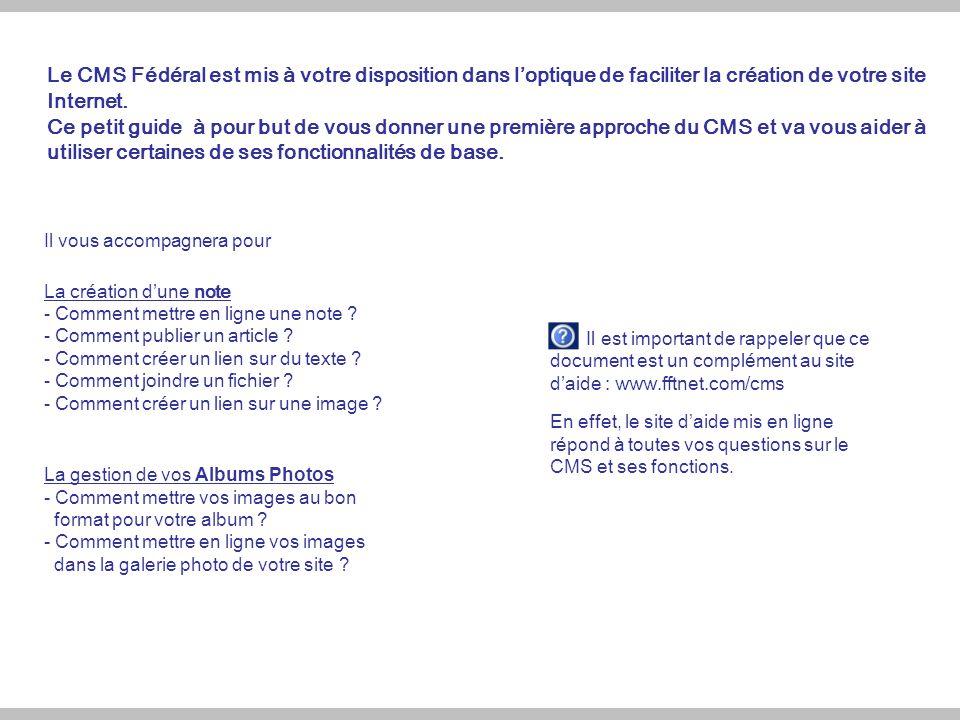 1.Accéder à la partie Administration de mon site (p.3 et p.4) 2.Tout savoir sur « Mes articles et Mes dossiers » (p.