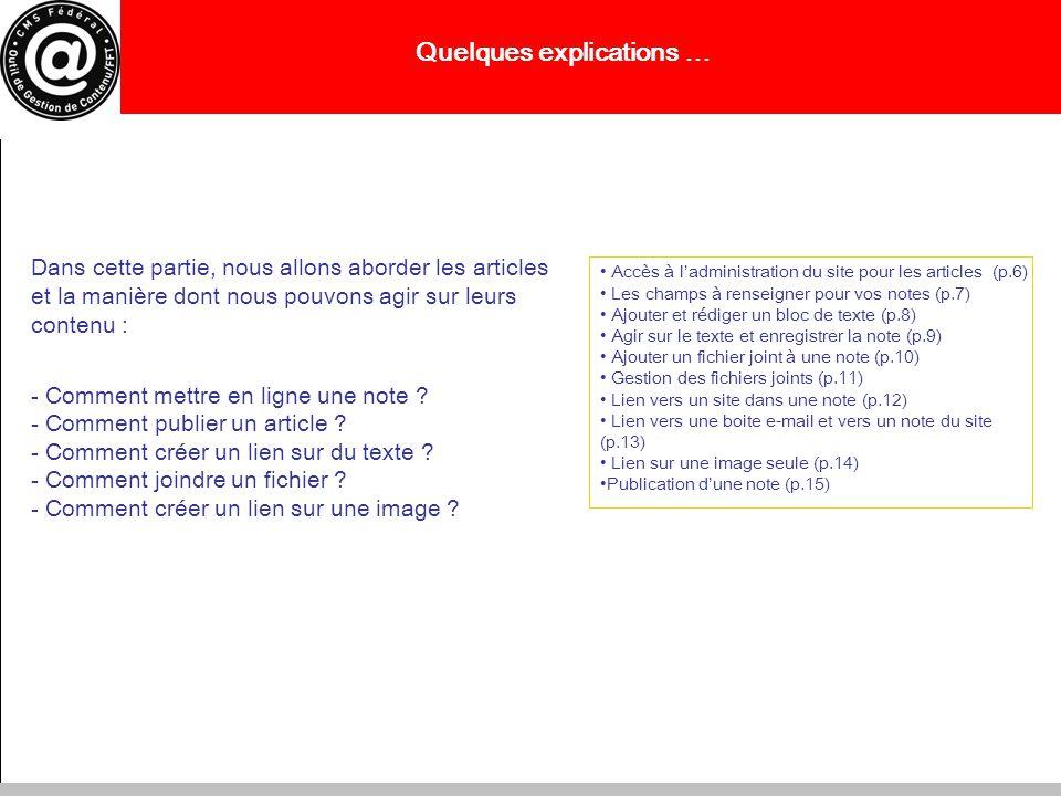 Accéder à ladministration pour les articles 1- Pour avoir accès à la gestion de votre site, il faut dabord vous connecter en entrant ladresse e-mail délivrée par la FFT ainsi que votre mot de passe, choisir votre site dans longlet « site », puis valider en cliquant sur « ok » 2 - Dans le menu principal qui apparaît sur votre écran, cliquer sur « Mes articles et mes dossiers » 3 – Cliquer sur « ajouter un document » 7