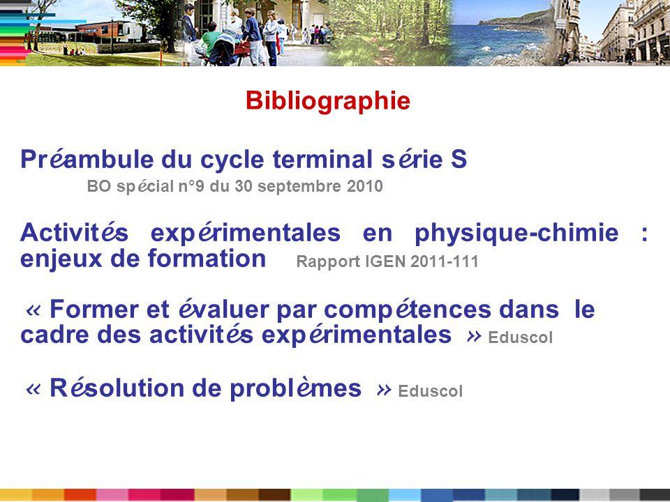 Pr é ambule du cycle terminal s é rie S BO sp é cial n°9 du 30 septembre 2010 Activit é s exp é rimentales en physique-chimie : enjeux de formation Ra