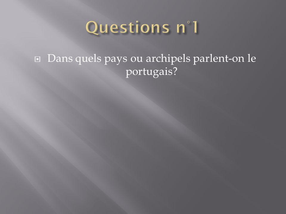Dans quels pays ou archipels parlent-on le portugais?