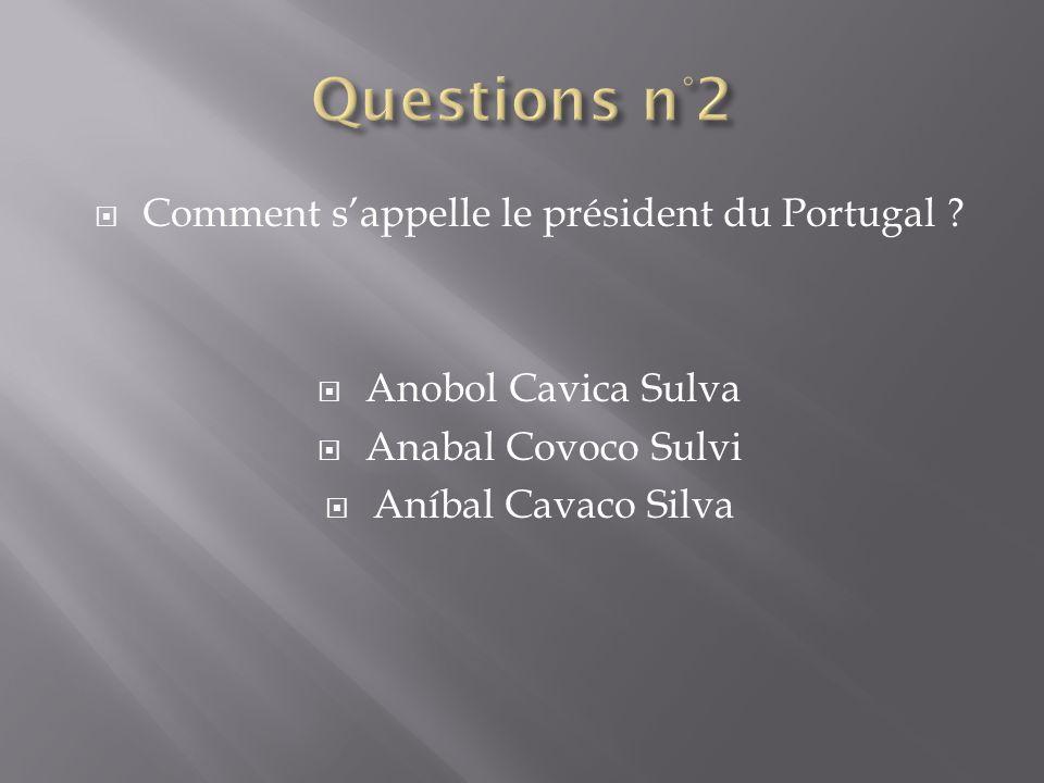 Comment sappelle le président du Portugal .