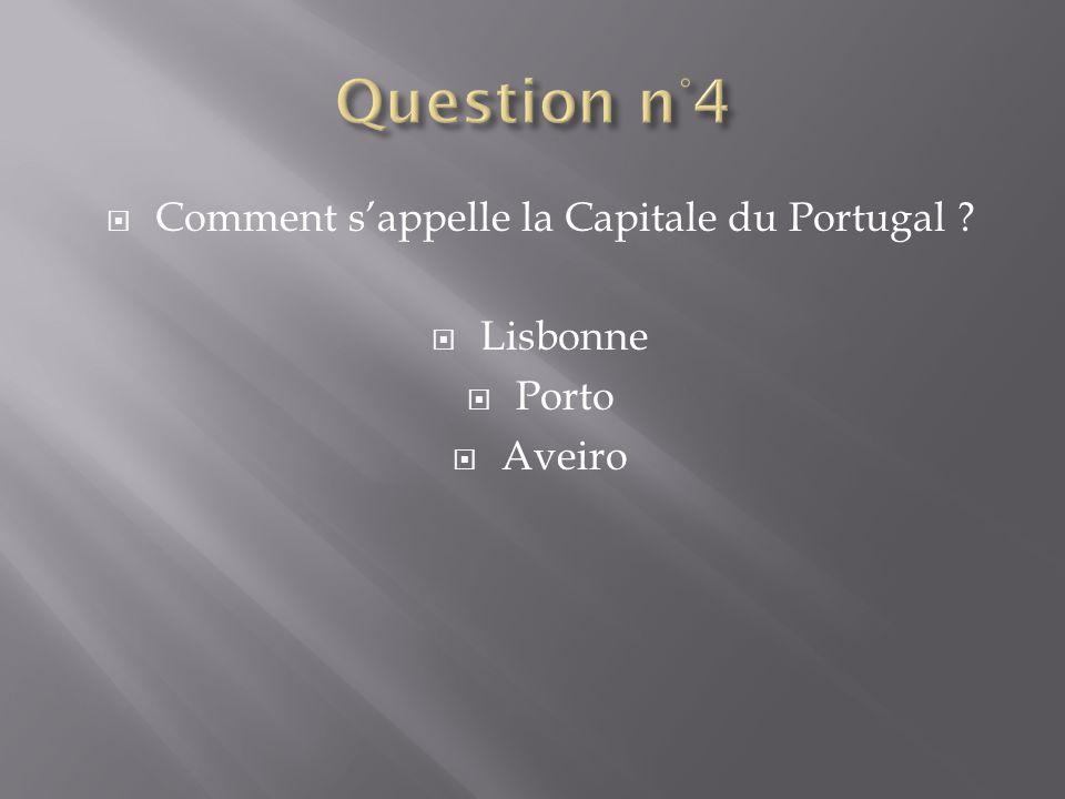 Comment sappelle la Capitale du Portugal ? Lisbonne Porto Aveiro