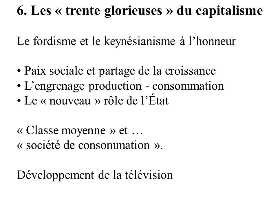 6. Les « trente glorieuses » du capitalisme Le fordisme et le keynésianisme à lhonneur Paix sociale et partage de la croissance Lengrenage production