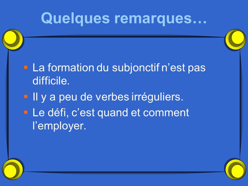 La formation Step 1 Conjugate your verb in the present tense with ils/elles Exemple: Parler – parlent Finir – finissent Vendre - vendent
