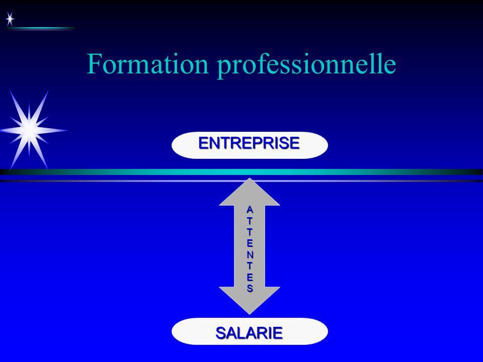 Formation professionnelle ENTREPRISE SALARIE ATTENTESATTENTESATTENTESATTENTES