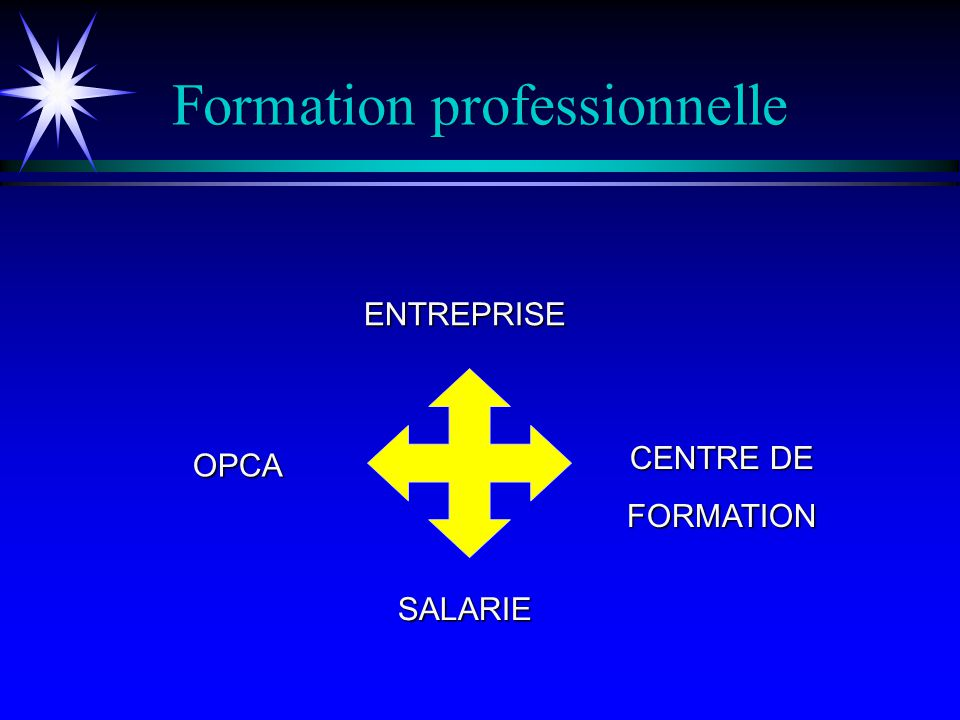 Formation professionnelle La typologie de formation A.