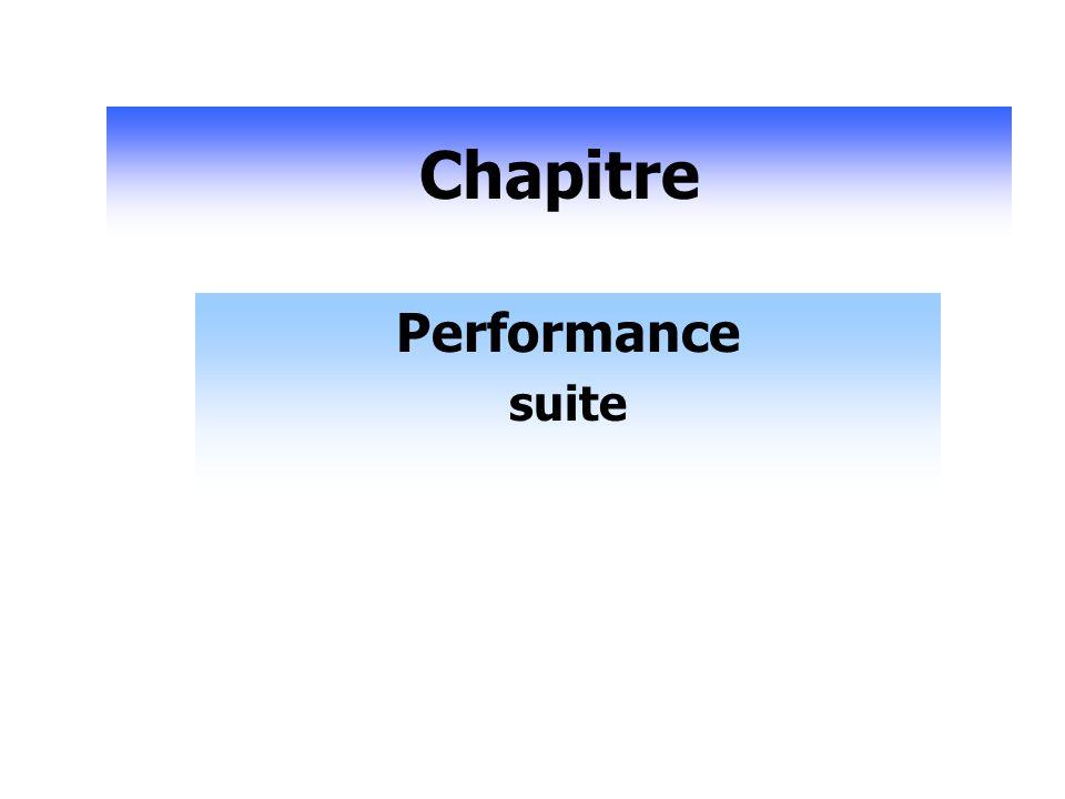 Chapitre Performance suite