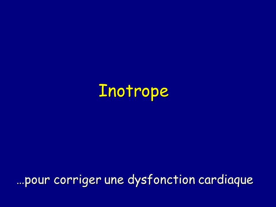 Inotrope …pour corriger une dysfonction cardiaque