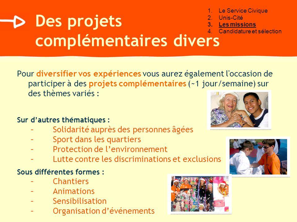 Pour diversifier vos expériences vous aurez également l'occasion de participer à des projets complémentaires (~1 jour/semaine) sur des thèmes variés :