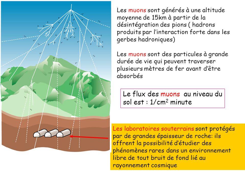 Les laboratoires souterrains sont protégés par de grandes épaisseur de roche: ils offrent la possibilité détudier des phénomènes rares dans un environ