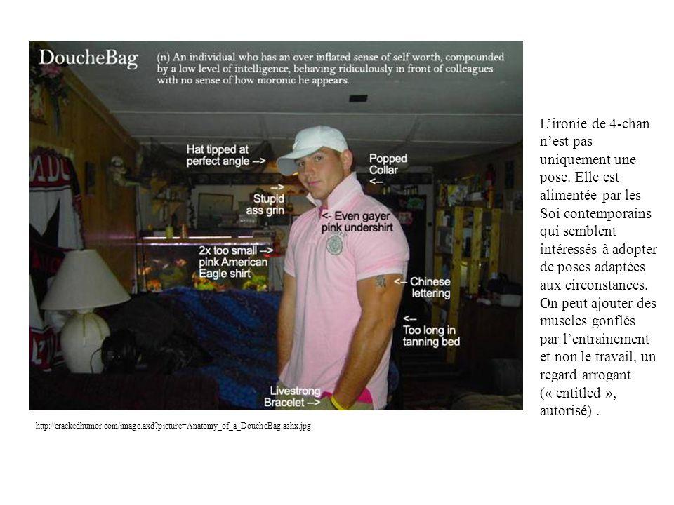 http://crackedhumor.com/image.axd?picture=Anatomy_of_a_DoucheBag.ashx.jpg Lironie de 4-chan nest pas uniquement une pose. Elle est alimentée par les S