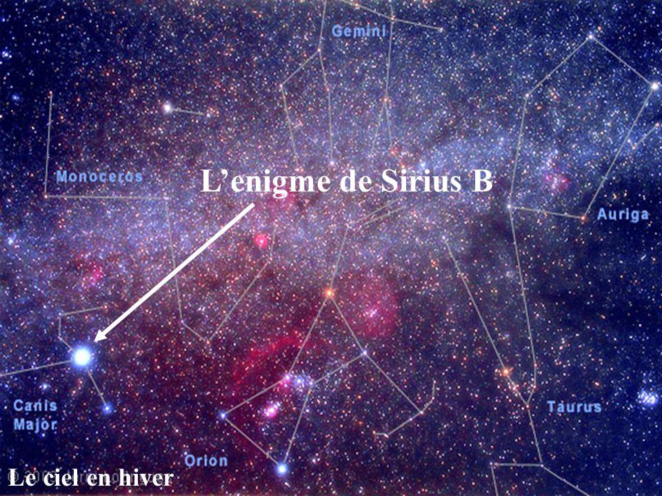 Le ciel en hiver Lenigme de Sirius B