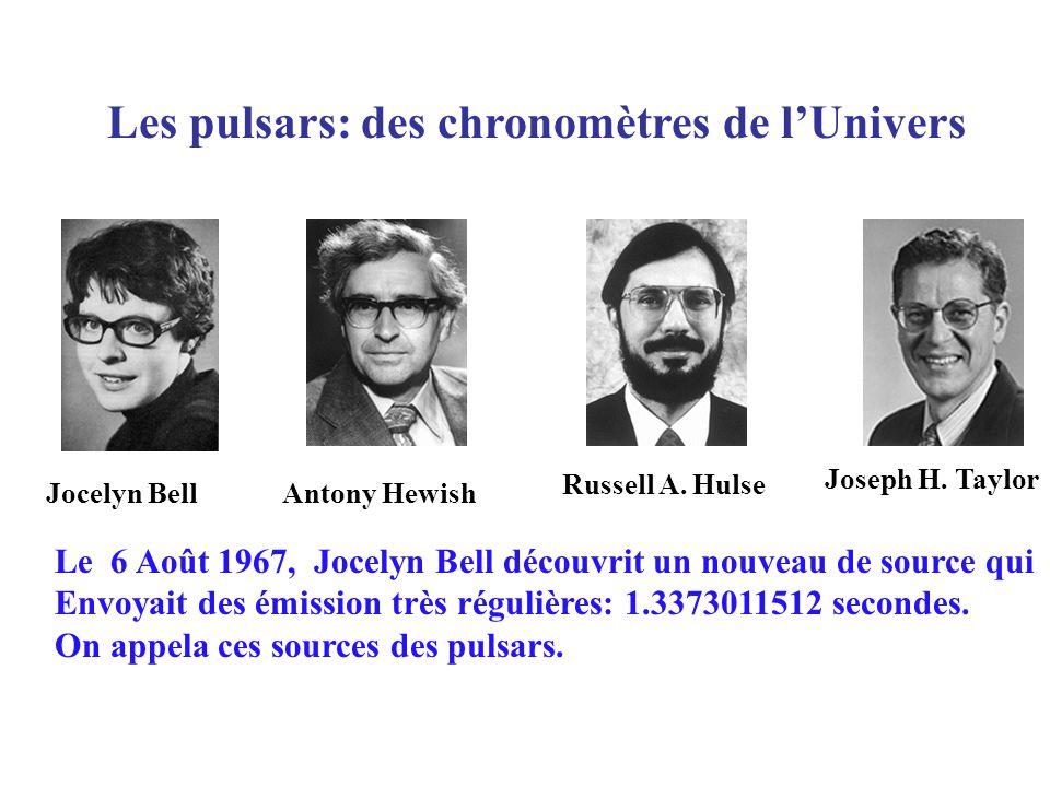 Les pulsars: des chronomètres de lUnivers Jocelyn BellAntony Hewish Russell A.