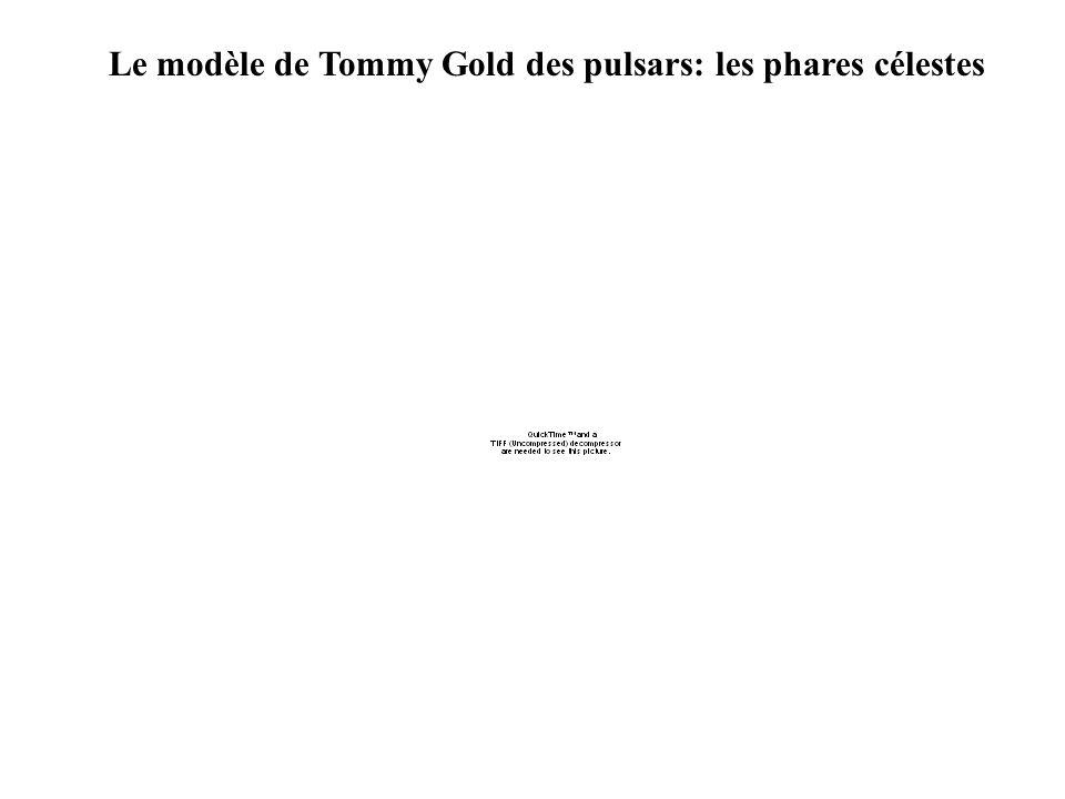 Le modèle de Tommy Gold des pulsars: les phares célestes