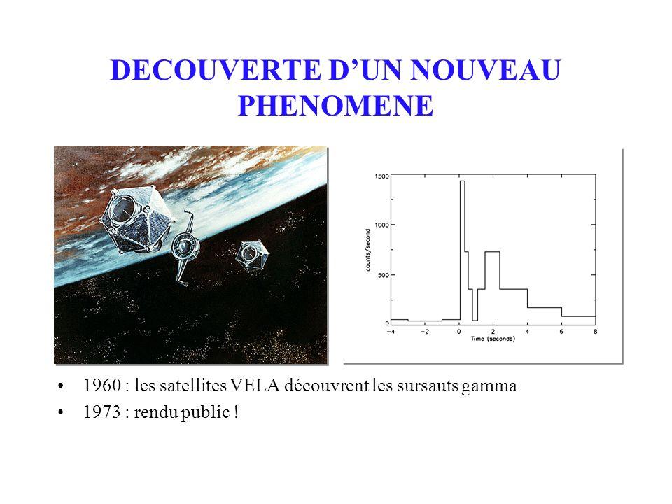 1960 : les satellites VELA découvrent les sursauts gamma 1973 : rendu public .