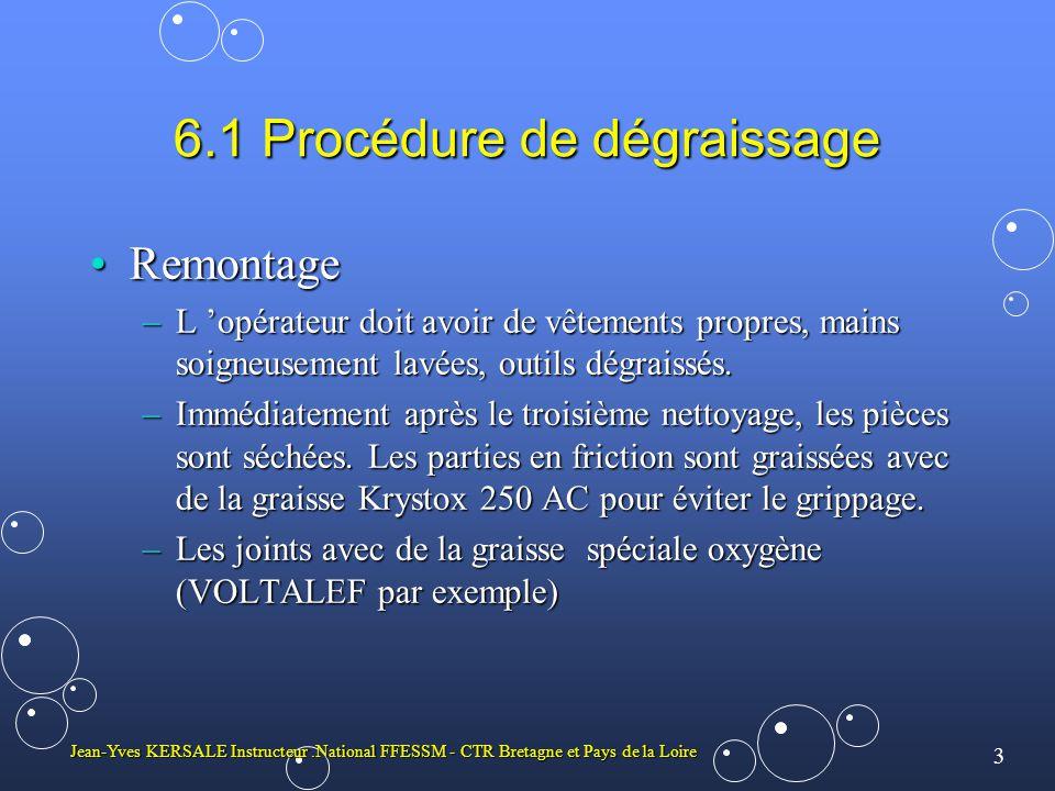 4 Jean-Yves KERSALE Instructeur.National FFESSM - CTR Bretagne et Pays de la Loire PRODUCTION DES MELANGES ET ANALYSES Un mélange préconisé: le 40/60 (profondeur maximale d utilisation 30 m)Un mélange préconisé: le 40/60 (profondeur maximale d utilisation 30 m) Deux autres mélanges sont couramment utilisés dans le monde:Deux autres mélanges sont couramment utilisés dans le monde: 32/68 (EAN32) 36/64 (EAN36) EANxx signifie Enriched Air Nitrox