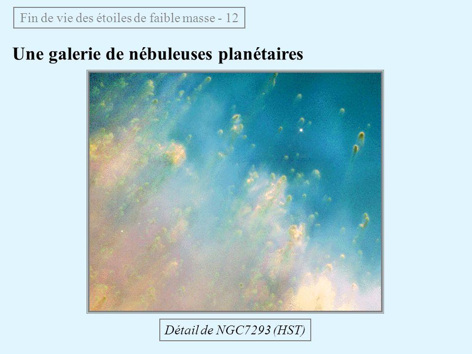Une galerie de nébuleuses planétaires Fin de vie des étoiles de faible masse - 12 Détail de NGC7293 (HST)