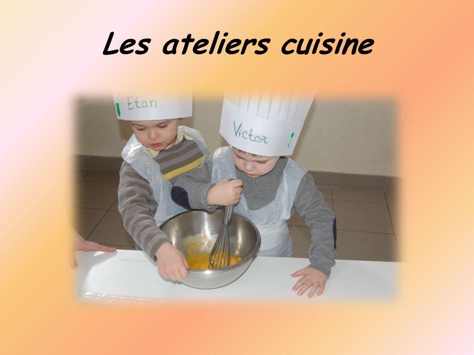 Les ateliers cuisine