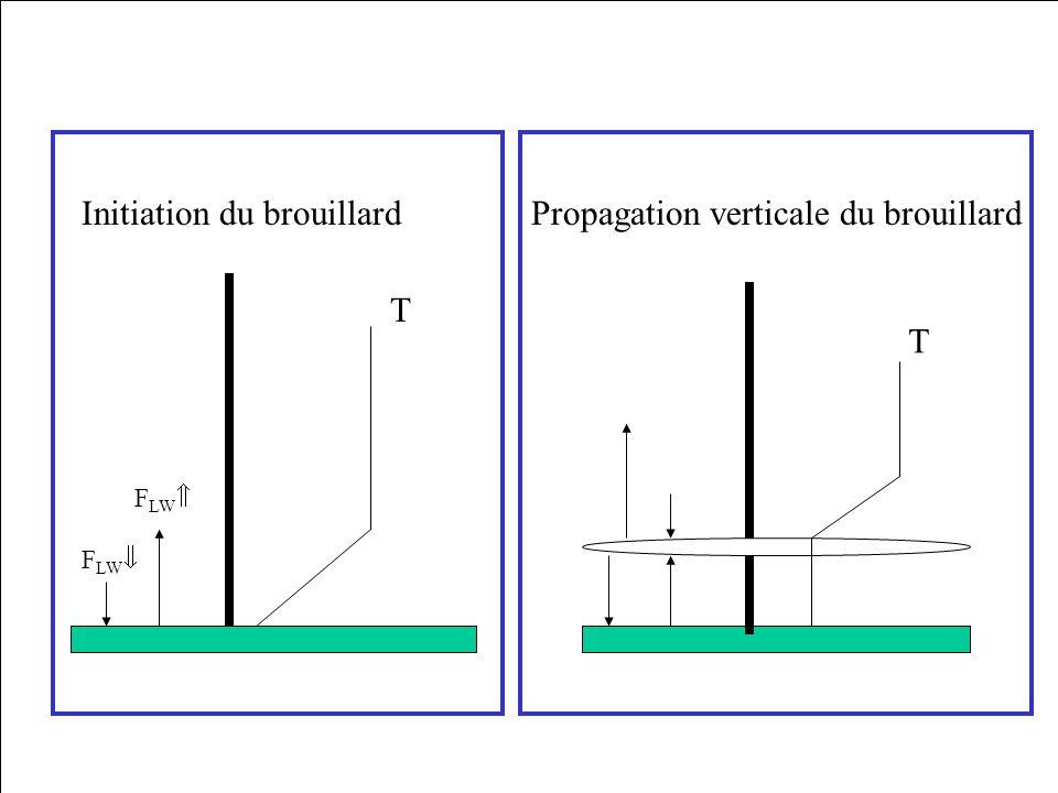 T T Initiation du brouillardPropagation verticale du brouillard F LW