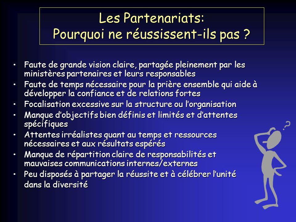 Les Partenariats: Pourquoi ne réussissent-ils pas .