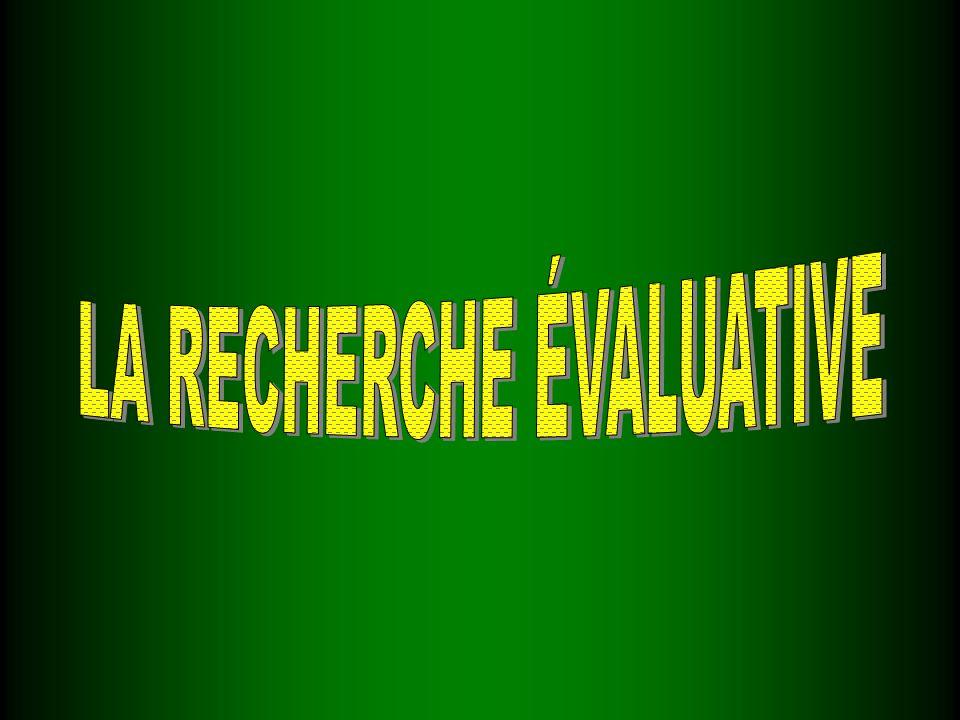 DÉFINITION STRATÉGIES DE RECHERCHE LES TYPES DÉVALUATION PLANIFIER UNE ÉVALUATION