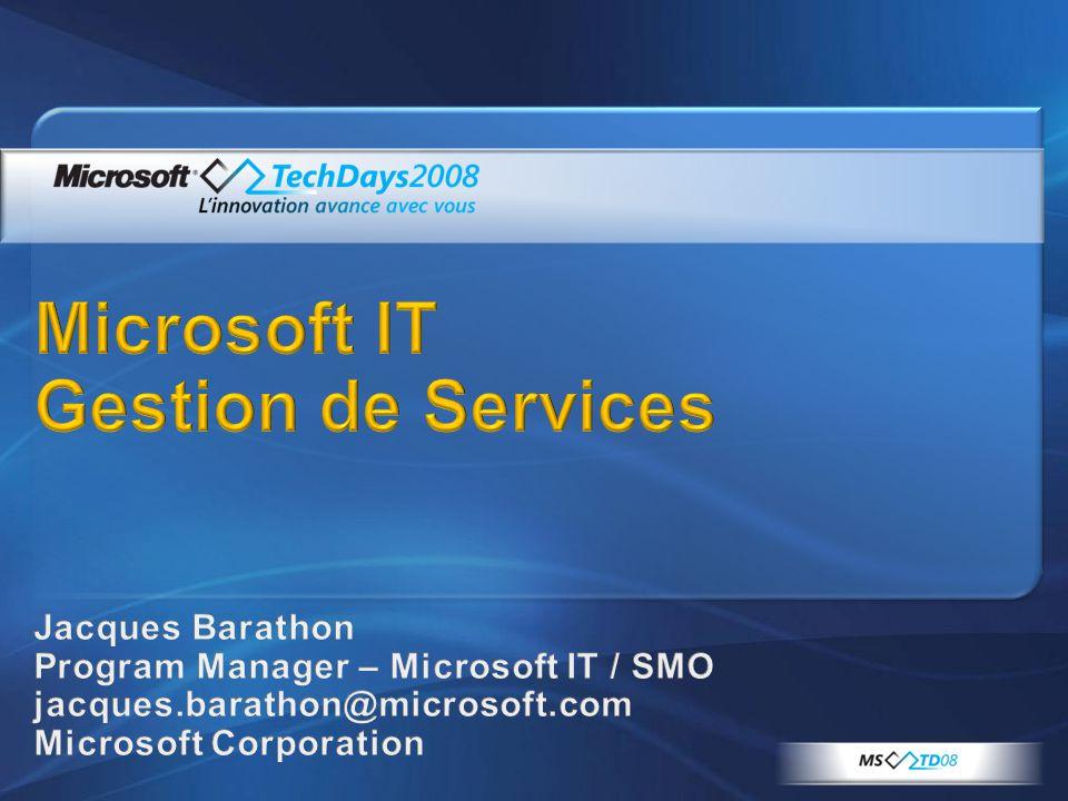Rejoignez nous également sur les stands System Center et sur le site: www.microsoft.com/france/systemcenter/default.mspx ThèmesHorairesSallesSpeakers Lundi 11 Neos: Mise en application de PowerShell V1/V2 avec la gamme System Center 17:30 - 18:30353Antoine Habert (Neos) Mardi 12 Février Vue d ensemble de l offre Microsoft System Center 11:00 - 12:00251Geneviève Koehler (Microsoft) Processus ITIL: du concept à la culture du service13:00 - 14:00243Thierry Chamfrault (ITSMF France) Vue d ensemble de System Center Operations Manager 200713:00 - 14:00251Yann Gainche (MVP) Adapter l exploitation aux besoins des métiers par un dialogue direct: une étape vers une approche par les services 14:30 - 15:30224 Régis Mauger (Microsoft), Daniel Hervouet (Nextsteps) Vue d ensemble de System Center Configuration Manager (SCCM) 200714:30 - 15:30351Hervé Thibault (MVP) Administrer vos environnements virtuels avec Virtual Machine Manager (SCVMM) et System Center 16:00 - 17:00252B Fabrice Meillon, Bruno Saille (Microsoft) Outils d administration avancés pour SQL Server 2005 et 200816:00 - 17:00 Amphithéatre Bleu Patrick Guimonet, Régis Mauger, Jean Marie Savin (Microsoft) Mercredi 13 Février Optimisation du poste de travail: Introduction à MDOP11:00 - 12:00342BEnrique Ruiz Mateos (Microsoft) EMC: les outils de supervision pour le datacenter11:00 - 12:00353Christophe Bernaud (EMC) Gestion des SLA, SLM, scorecard11:00 - 12:00224Daniel Givaudan (Microsoft) Gérer l hétérogénéité avec System Center Operations Manager 200713:00 - 14:00343 Jean Marie Savin (Microsoft), Pierre Gagnon (PI Services), Anthony Moillic (Quest Software) Présentation générale de System Center Data Protection Manager (DPM)13:00 - 14:00341 Francois Manuel Billault (Microsoft), Frederic Courtois (Quest Software) Administrer et sauvegarder un environnement Sharepoint 2007 virtualisé avec la suite System Center 13:00 - 14:00253 Laurent Leslé, Pierre Erol Giraudy (MVP) Migration depuis SMS 2003 vers System Center Configurat