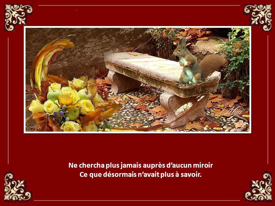 Depuis lors la Princesse aux yeux privés de ciel, Eblouie par ce Roi au doux baiser de miel,