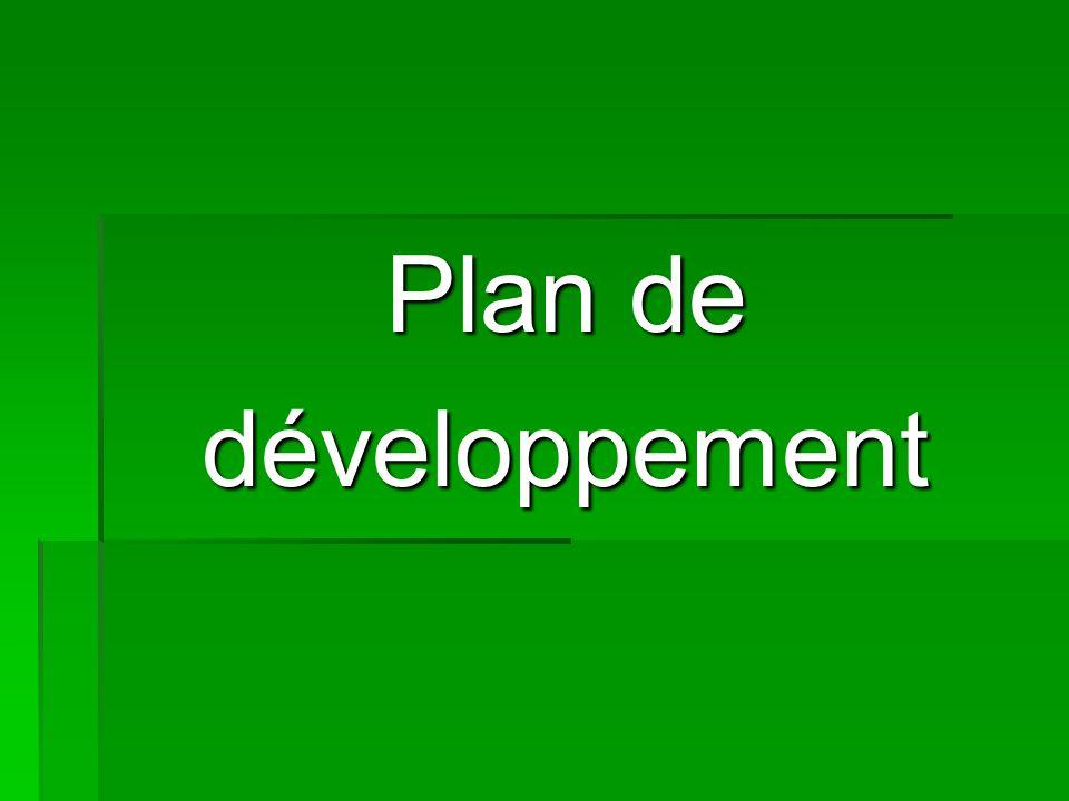 Plan de développement