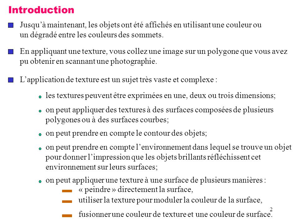 33 void Construction_de_textures() { int i, j, k; for (i = 0; i < Hauteur; i++) for (j = 0; j < Largeur; j++) { k = (((i&0x8)==0) ^ ((j&0x8)==0)) * 255; Premiere_image[i][j][0] = (GLubyte) k; Premiere_image[i][j][1] = (GLubyte) k; Premiere_image[i][j][2] = (GLubyte) k; Premiere_image[i][j][3] = (GLubyte) 255; k = (((i&0x10)==0) ^ ((j&0x10)==0)) * 255; Deuxieme_image[i][j][0] = (GLubyte) k; Deuxieme_image[i][j][1] = (GLubyte) 0; Deuxieme_image[i][j][2] = (GLubyte) 0; Deuxieme_image[i][j][3] = (GLubyte) 255; }