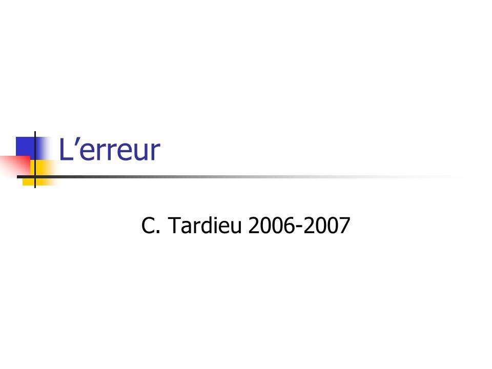 Lerreur C. Tardieu 2006-2007