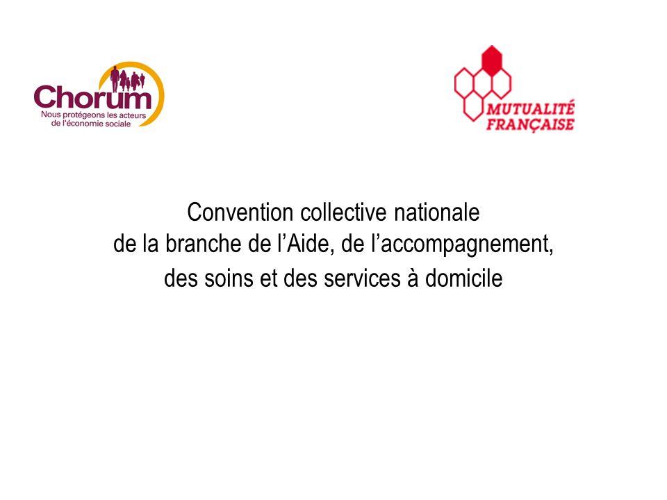 Convention collective nationale de la branche de lAide, de laccompagnement, des soins et des services à domicile
