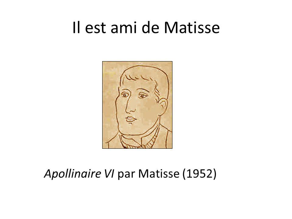 Il est ami de Matisse Apollinaire VI par Matisse (1952)