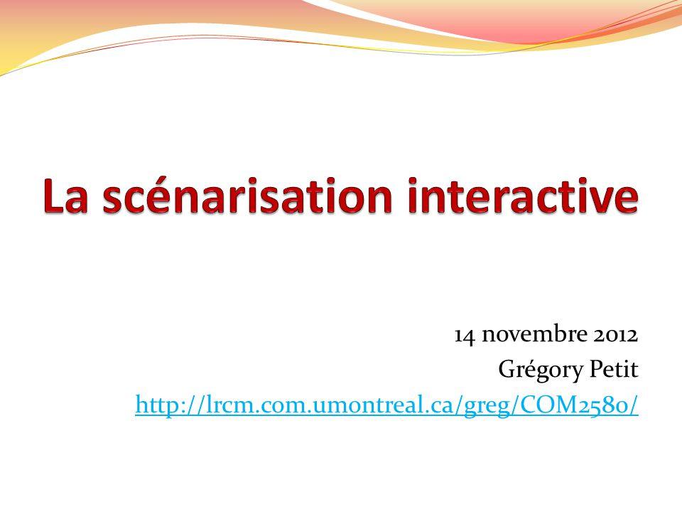 14 novembre 2012 Grégory Petit http://lrcm.com.umontreal.ca/greg/COM2580/