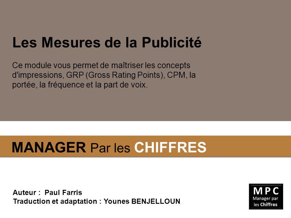 L ES I MPRESSIONS Les Impressions Les Impressions sont l unité de base de mesure de la publicité.