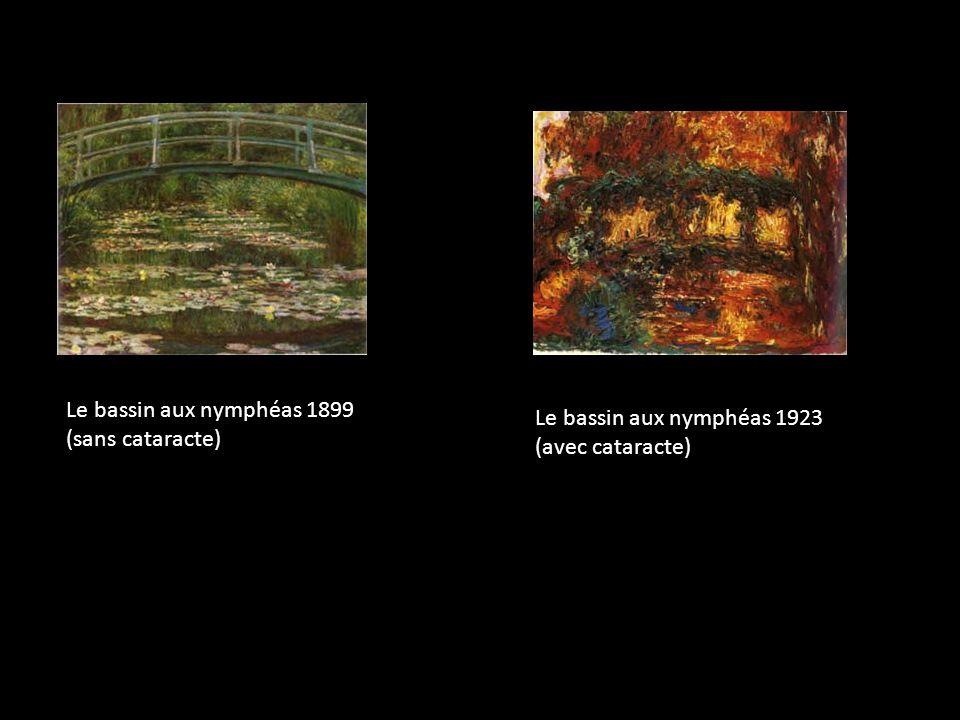 Le bassin aux nymphéas 1899 (sans cataracte) Le bassin aux nymphéas 1923 (avec cataracte)