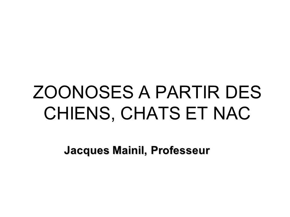 ZOONOSES A PARTIR DES CHIENS, CHATS ET NAC Jacques Mainil, Professeur