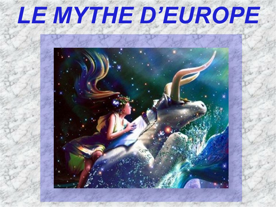 Zeus tombe un jour amoureux d Europe, princesse phénicienne