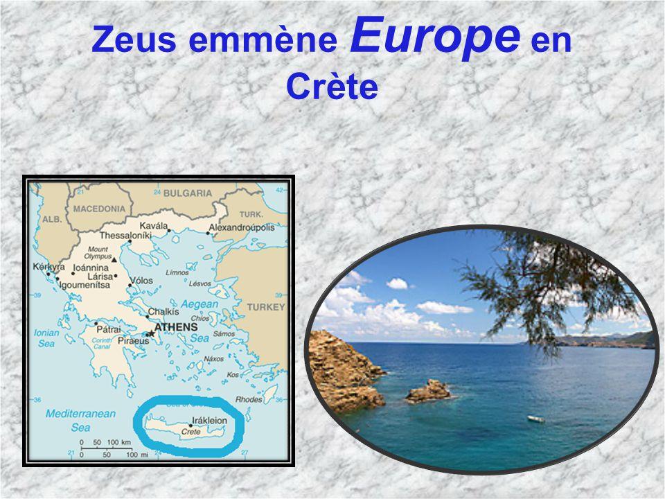 Zeus emmène Europe en Crète