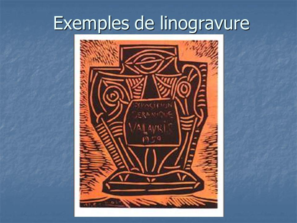 Exemples de linogravure