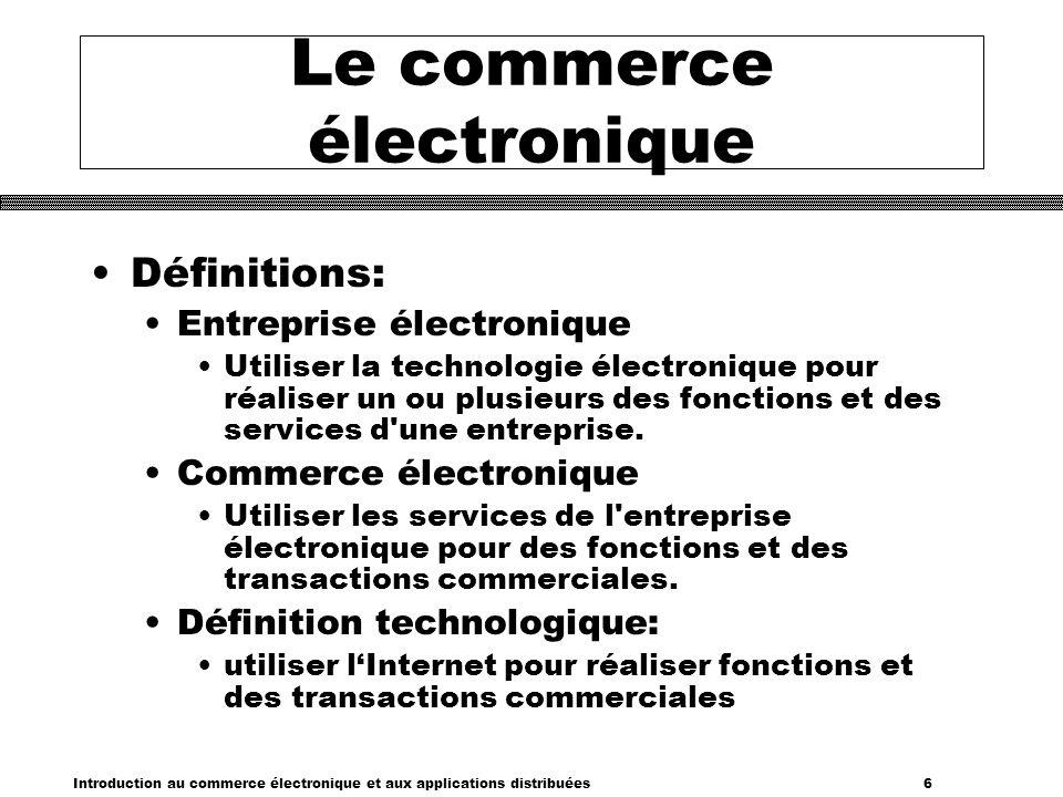 Introduction au commerce électronique et aux applications distribuées 7 La révolution technologique dure.