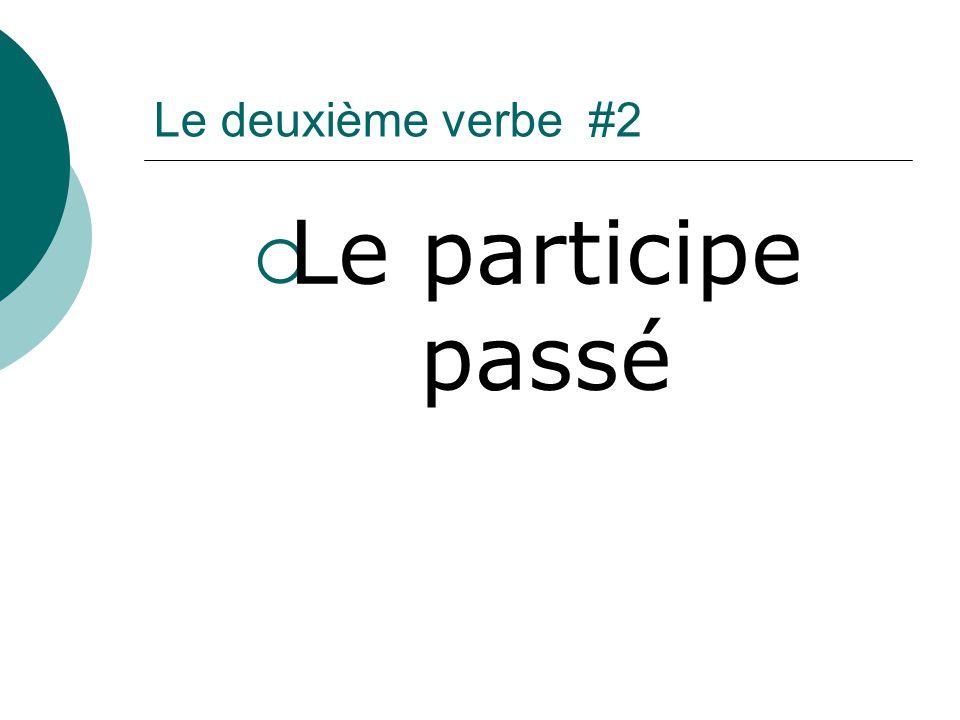 Verbes réguliers ER La racine + la terminaison é Ex.