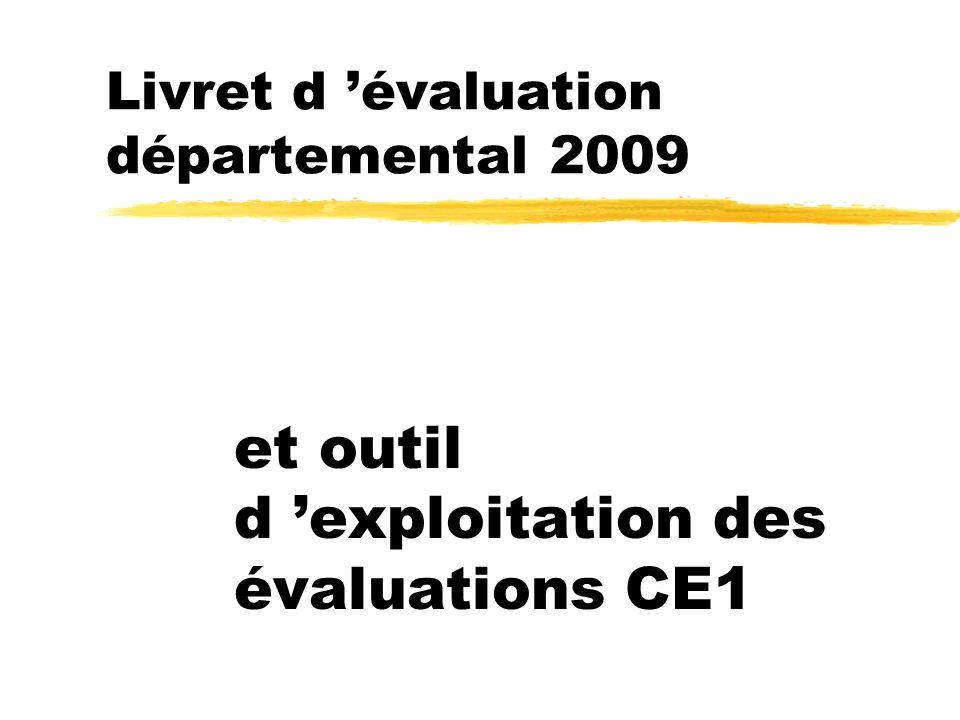 Pour établir les pages d évaluations d une période Exemple dans une classe de CP cycle 2