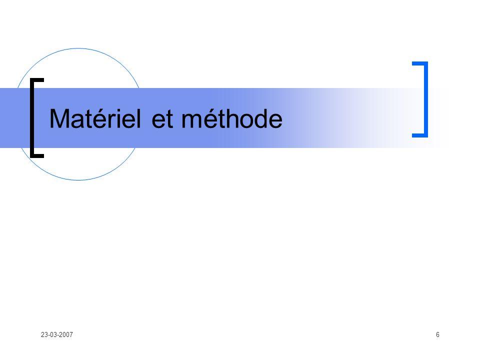 23-03-20076 Matériel et méthode