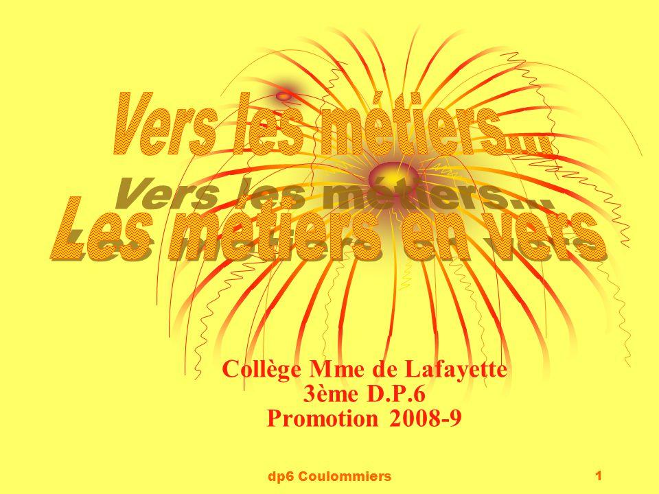 dp6 Coulommiers 1 Collège Mme de Lafayette 3ème D.P.6 Promotion 2008-9