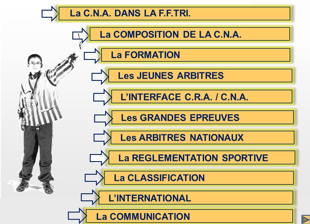 Les JEUNES ARBITRES LINTERFACE C.R.A. / C.N.A.