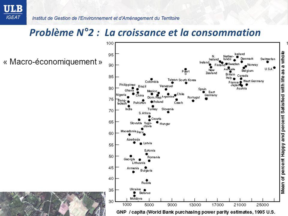 Problème N°2 : La croissance et la consommation « Macro-économiquement »
