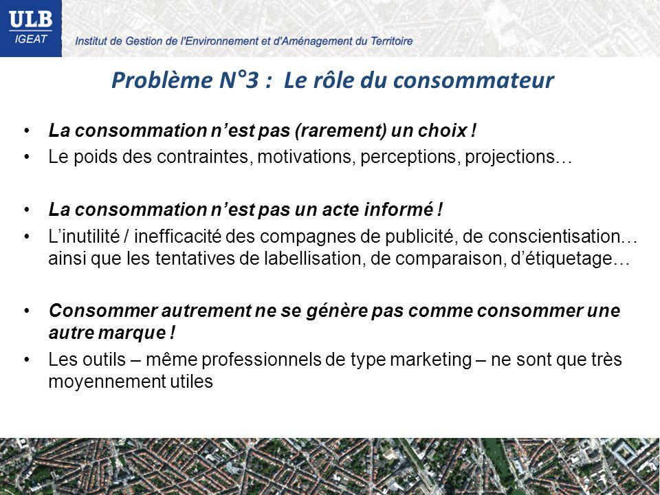 La consommation nest pas (rarement) un choix ! Le poids des contraintes, motivations, perceptions, projections… La consommation nest pas un acte infor